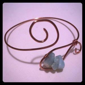 Copper and Gemstone Cuff Bracelet